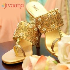 25 Ideas bridal shoes sandals heels products for 2019 Latest Ladies Shoes, Indian Shoes, Indian Online, Bridal Sandals, Wedding Heels, Indian Bridal, Wedge Shoes, Shoes Sandals, Sandals Outfit