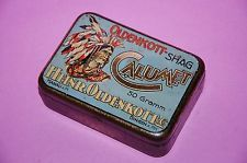 A German Heller Oldenkott selfroller CALUMET  Tobacco tin 1930 ties its in my Collection and for Sale in a slightly worse condition
