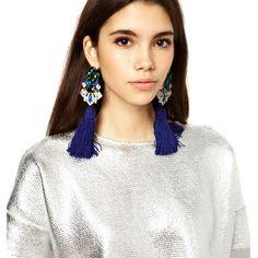 JUJIA 2017 New Fringed Statement Earrings Wedding Tassel Multicolored Hot Fashion Drop Dangle Earrings Jewelry Women 50089