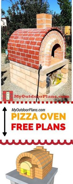 Pizza oven plans - Easy to follow instructions and diagrams for you to build a brick and wood fired oven! #kidsplayhouseplans