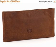 Brown Leather Wallet / Men Leather Wallet / Women Purse / Unisex Wallet / Cards Slots Wallet / Coins Wallet / Compartments Wallet - Efika