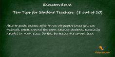 Student teacher tips (tip 8)