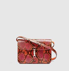 51d20dd80ca Gucci - jackie soft python flap shoulder bag 362971E5C0N7566
