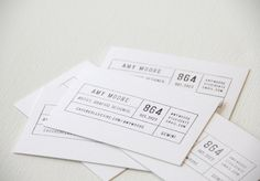 stamp business cards - so unique.  clients can mix up color of ink and paper.