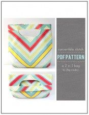 Convertible Clutch or Tote 2 in 1 Fold Over Bag PDF Sewing Pattern by LBG Studio via lilblueboo.com