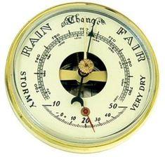 Ivory Face Barometer and Thermometer - Mayama