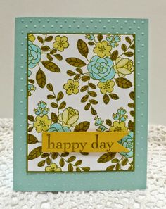 Stampin' Up! So Very Grateful and Happy Day handmade card