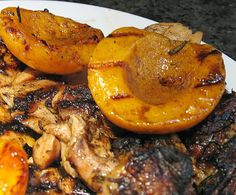 Grilled Rosemary Chicken and Peaches   Big Red Kitchen - a regular gathering of distinguished guests
