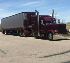 Big rig Custom Peterbilt Conventional with a Matching Reefer