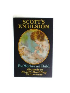 Victorian Trade Card Vintage Scott's Emulsion by APaperWitch