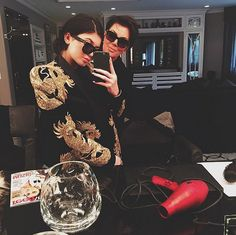 Pin for Later: Kylie Jenner and Justin Bieber Are Totally in a Fashion Feud Over This Balmain Jacket  Kylie Jenner stole them away.