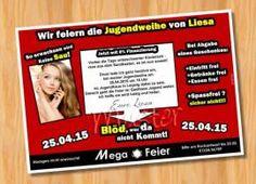 Einladung Einladungskarten Jugendweihe Originelle 57   Bild Vergrößern |  Jugendweihe | Pinterest