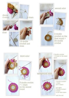 cute crochet star bursts tutorial.