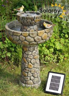 Fuente bebedero para Pájaros Empedrado de Solaray™ - A68cm