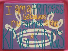 """Craft for my future little! """"I am a princess because my Father is the King of Kings!"""" #zlam #sororitycraft #zeta"""