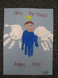 Hand print angels!