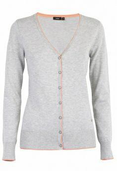 Fransa Kray 8 Cardigan Light grey melange 600391 - Cardigans - MaMilla