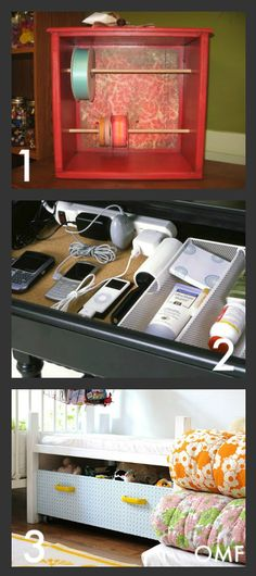 i hate having clutter on the counters....the worst is the phones and cords....love this idea for the drawer!  now....if i could only figure out a way to get all the paperwork off the counter!