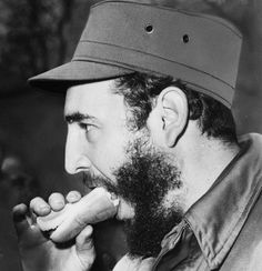 Let's Eat ... Fidel Castro eats a hot dog in New York, 1959