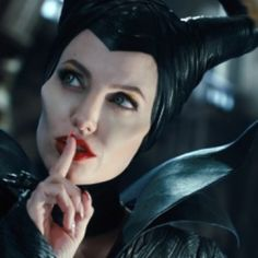 Angelina Jolie's Maleficent iconic look was developed by her personal stylist and movie design team who created a character with makeup that is terrifying and stunningly beautiful at the same time.