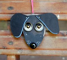 Dachshund Dog Ornament Recycled Hand Made by KingsBenchCreations, $15.00