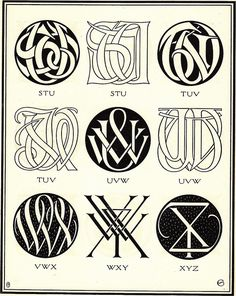 Monograms & Ciphers by AA Turbayne 1912 l | Flickr - Photo Sharing!