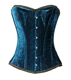 HolyClothing Rachelle Embroidered Victorian Corset Ruffled Top  2XLarge  Jade Green -- Click on the image for additional details.
