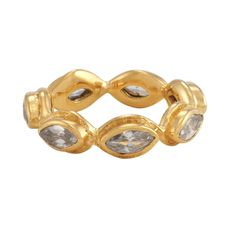 Gwyneth 2R Ring Gold White CZ