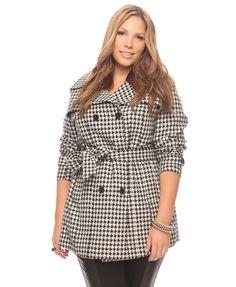 Plus size Belted Herringbone Jacket  $39.80