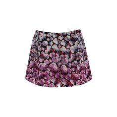 Neon rose Dipped Pink Floral Flippy Shorts Shorts (€28) ❤ liked on Polyvore