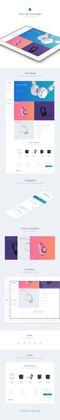 Blue Tiger Homepage by Martin Rus http://bit.ly/1pzrje6