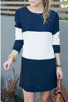 cute colorblock dress