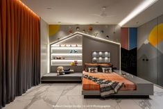 An art-filled luxury apartment gets its interior design right! - An art-filled luxury apartment gets its interior design right! Design Loft, Kids Room Design, House Design, Luxury Homes Interior, Luxury Home Decor, Luxury Kids Bedroom, Bedroom Cupboard Designs, Contemporary Apartment, Design Furniture
