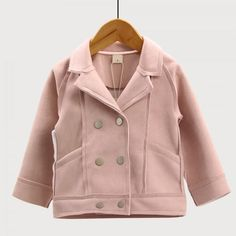 Chic Suede Lapel-collar Jacket for Baby and Girls