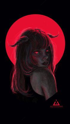 Koza by Asteltainn fantasy art Koza by Asteltainn on DeviantArt Arte Horror, Horror Art, Aesthetic Anime, Aesthetic Art, Satanic Art, Dark Art Drawings, Dark Art Paintings, Arte Obscura, Grunge Art