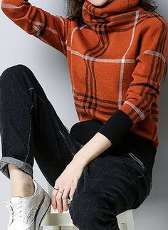 Latest fashion trends in women's Sweaters. Shop online for fashionable ladies' Sweaters at Floryday - your favourite high street store. Casual Sweaters, Sweaters For Women, Elegant Dresses, Casual Dresses, Sweater Shop, Latest Fashion Trends, Autumn Winter Fashion, Turtle Neck, My Style