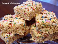 Forkful of Comfort: Cake Batter Rice Krispies Treats