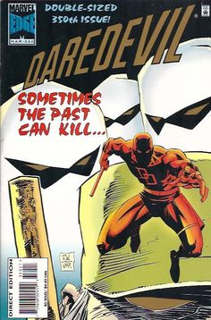 Cover for Daredevil (Marvel, March [Deluxe Direct Edition] Make A Comic Book, Old Comic Books, Marvel Comic Books, Comic Movies, Comic Book Covers, Comic Book Heroes, Marvel Dc Comics, Daredevil Elektra, Old Comics
