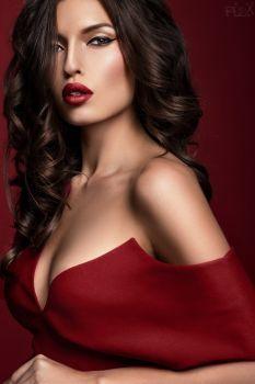 Alina In Red Portrait by FlexDreams