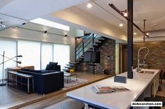Modern Day Open Notion Penthouse In Taiwan: Lai Residence - http://www.dedecoration.com/home-design-ideas/modern-day-open-notion-penthouse-in-taiwan-lai-residence.html