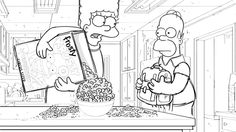 """Animatic from the """"Homer Goes To Prep School"""" episode of THE SIMPSONS. Homer And Marge, Homer Simpson, Cool Coloring Pages, Prep School, Storyboard, Tutorials, Animation, Cool Stuff, Top"""