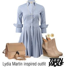 Lydia Martin inspired outfit/TW by tvdsarahmichele on Polyvore featuring moda, Michael Kors, Gucci, Chanel and Gorjana