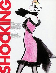 Yves Saint Laurent Couture  1987,  Illustration by Rene Gruau