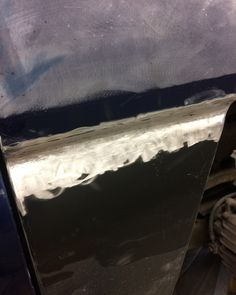 Fabrication and welding work done on the burb time for plastic filler!  #crustyrustysrestoration #bodywork #rustrepair #fabrication #welding #painting #autobody #chevy #suburban #burblife #chevynation #chevylife #chevysuburban #rust #crust #incrustwetrust #shophighlight #thisweek #staytuned #paint #painting #sanding