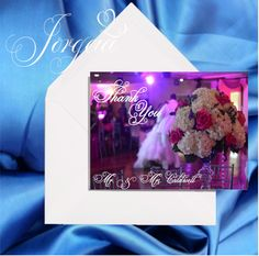 Photo Personalized Wedding Thank You Cards With Addressed Envelopes, Thank you Card, Wedding card, Save the date, Wedding Greeting cards,