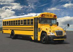 Going to school with a typical American school bus!!