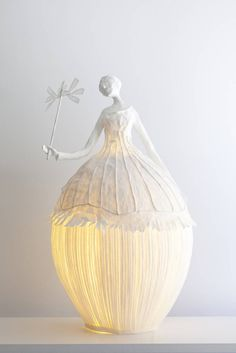 Ethereal Papier-Mache Lamp Sculptures of Dancers & Fairies The team of Sophie Mouton-Perrat and Frédéric Guibrunet, aka Papier à êtres, have been constructing delicate and ethereal papier mache...
