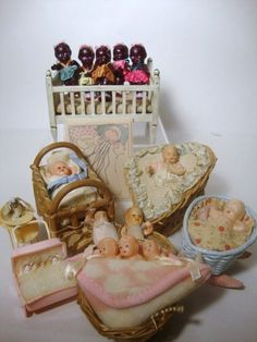 Celluoid Dollhouse Doll Collection