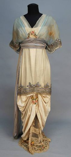 Evening dress ca. 1914