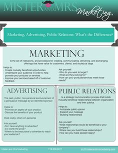 Marketing, Advertising, Public Relations: What's the Difference? Learning the difference between these 3 can help us explain better to our peers how and why Public Relations goes hand on hand with Marketing and advertising. Marketing And Advertising, Business Marketing, Business Tips, Internet Marketing, Social Media Marketing, Digital Marketing, Influencer Marketing, Public Relations Career, Corporate Communication